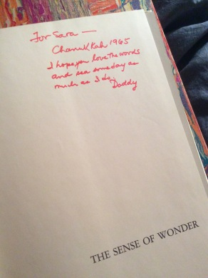 my Dad inscribed this book for me